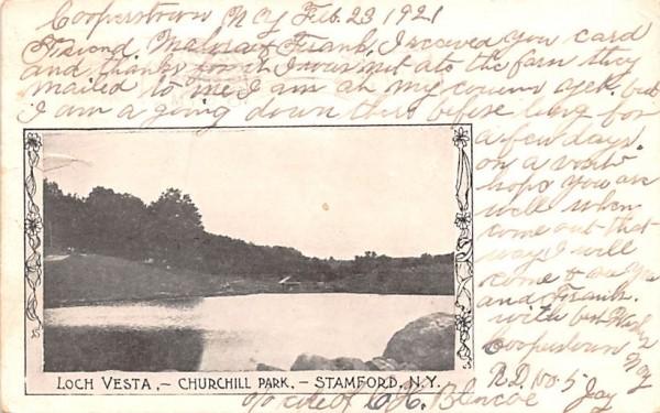 Loch Vesta Stamford, New York Postcard