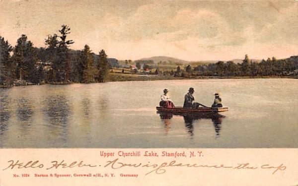 Upper Churchill Lake Stamford, New York Postcard