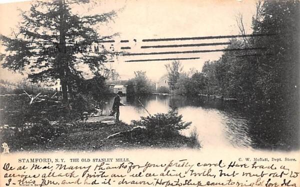 Old Stanley Mills Stamford, New York Postcard