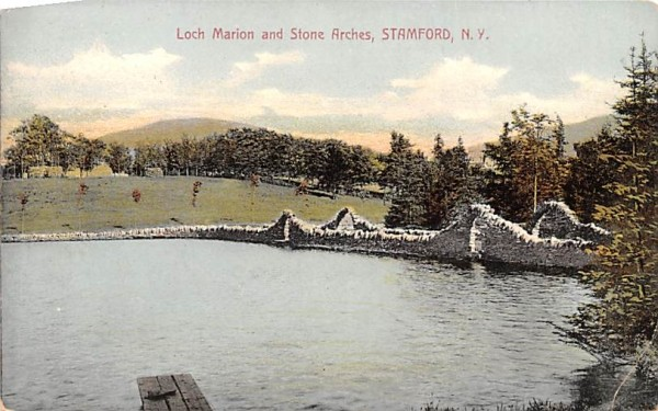 Loch Marion & Stone Arches Stamford, New York Postcard