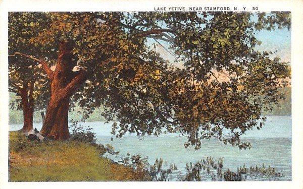 Lake Yetive Stamford, New York Postcard