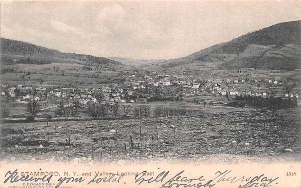 Valley looking East Stamford, New York Postcard