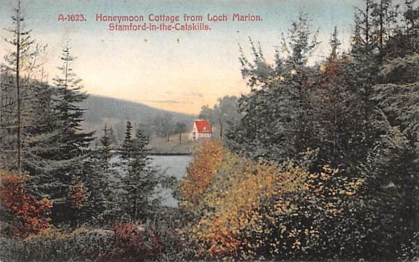 Honeymoon Cottage from Loch Marion Stamford, New York Postcard