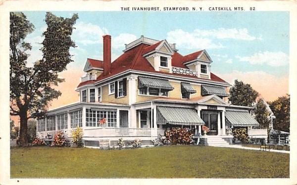 The Ivanhurst Stamford, New York Postcard