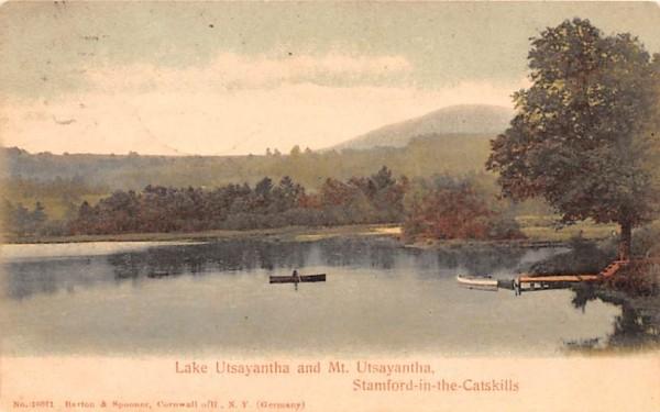 Lake Utsayantha & Mt Utsayantha Stamford, New York Postcard