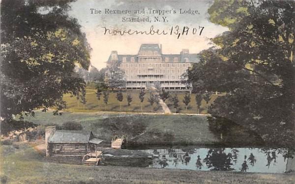 Rexmere & Trapper's Lodge Stamford, New York Postcard