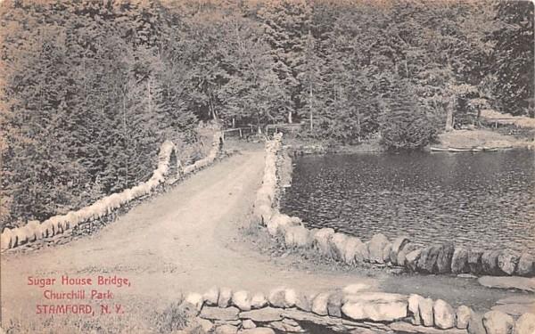 Sugar House Bridge Stamford, New York Postcard