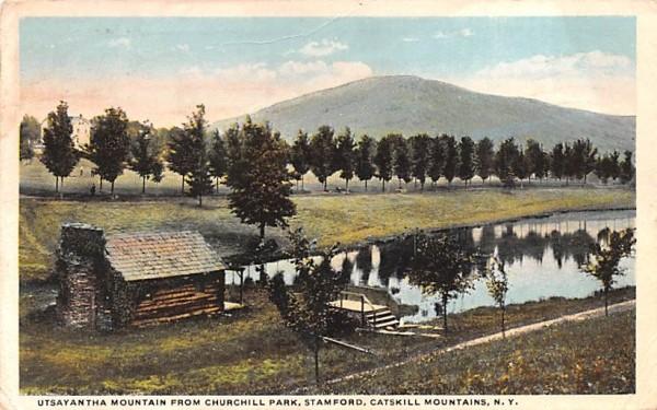 Utsayantha Mountain from Churchill park Stamford, New York Postcard