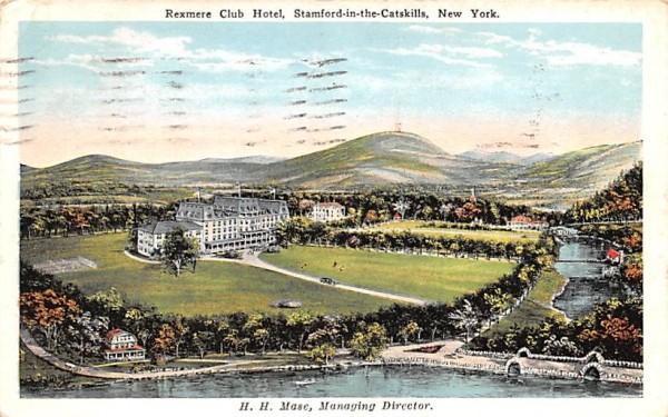 Rexmere Club Hotel Stamford, New York Postcard