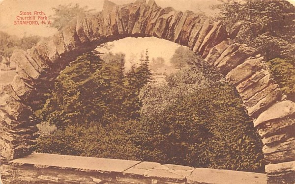 Stone Arch Stamford, New York Postcard