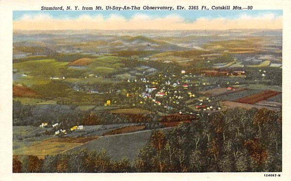 From Mt Ut-Say-An-Tha Observatory Stamford, New York Postcard
