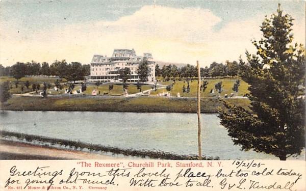 The Rexmere Stamford, New York Postcard