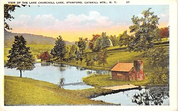 Lake Churchill Lake Stamford, New York Postcard