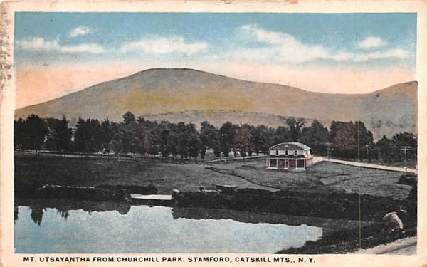 Mt Utsayantha from Churchill park Stamford, New York Postcard