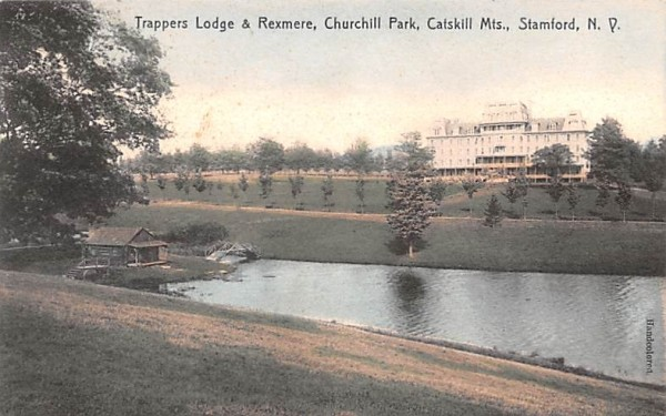 Trappers Lodge & Rexmere Stamford, New York Postcard