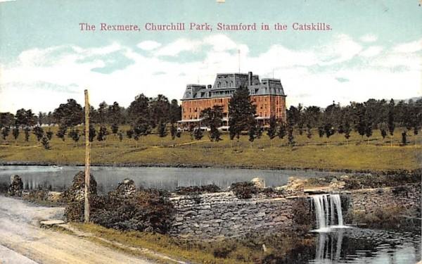 Rexmere, Churchill Park Stamford, New York Postcard