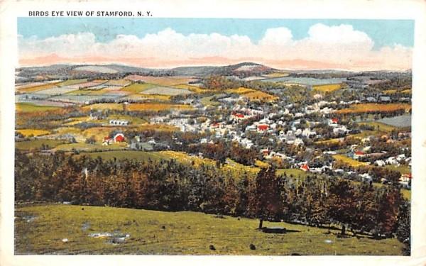 Bird's Eye View Stamford, New York Postcard