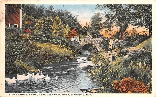 Stone Bridge Stamford, New York Postcard