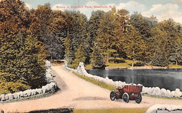 Churchill Park Stamford, New York Postcard