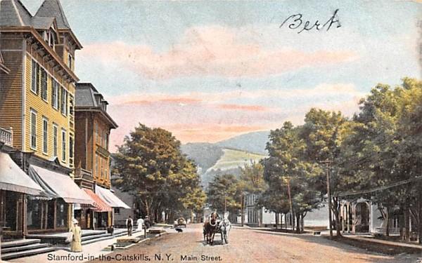 Main Street Stamford, New York Postcard