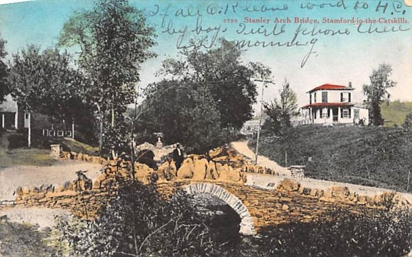 Stanley Arch Bridge Stamford, New York Postcard