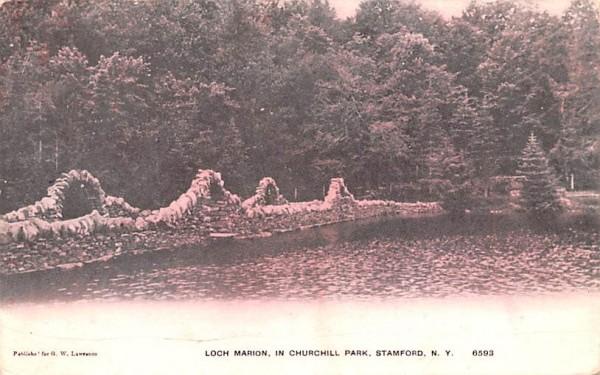 Loch Marion Stamford, New York Postcard