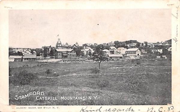 Catskill Mountains Stamford, New York Postcard
