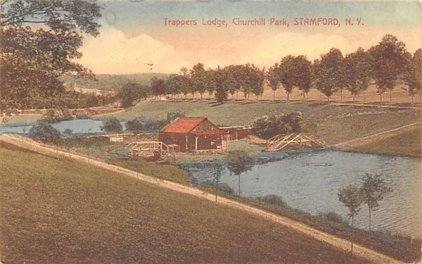 Trappers Lodge Stamford, New York Postcard