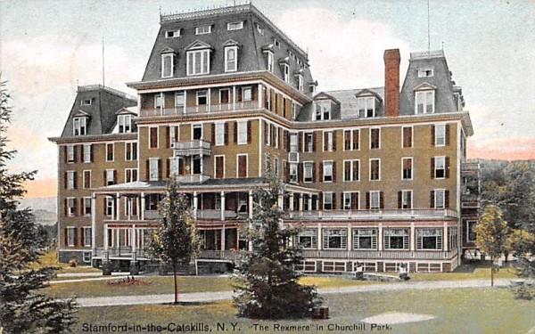 Rexmere in Churchill Park Stamford, New York Postcard