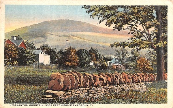 Utsayantha Mountain Stamford, New York Postcard