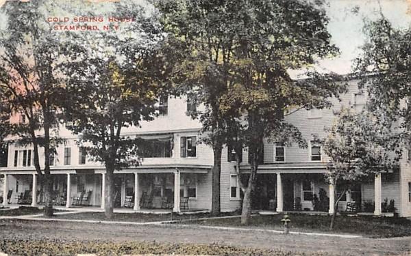 Cold Spring House Stamford, New York Postcard