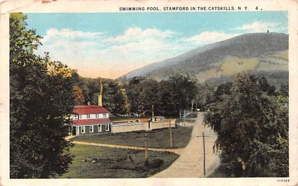 Swimming Pool Stamford, New York Postcard