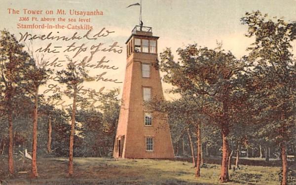 Tower on Mt Utsayantha Stamford, New York Postcard