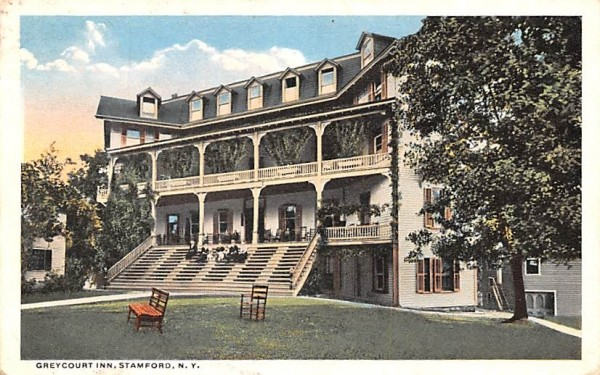 Grey Court Inn Stamford, New York Postcard