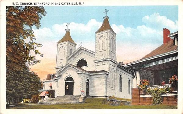 RC Church Stamford, New York Postcard