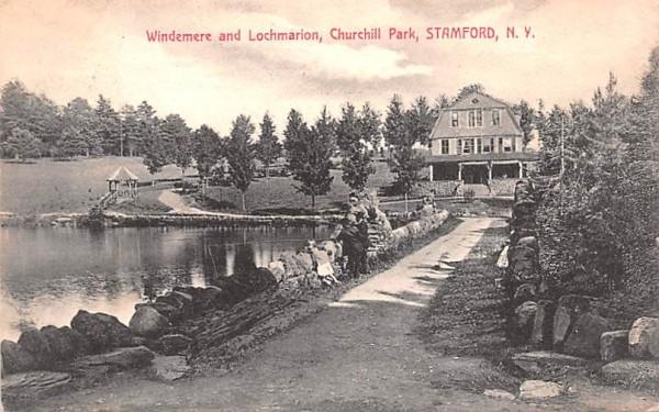 Windemere & Lochmarion Stamford, New York Postcard