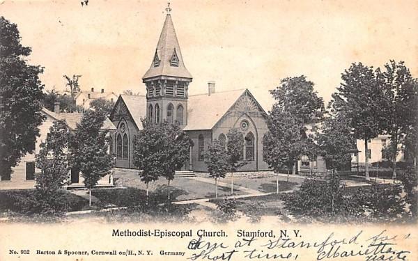 Methodist Episcopal Church Stamford, New York Postcard