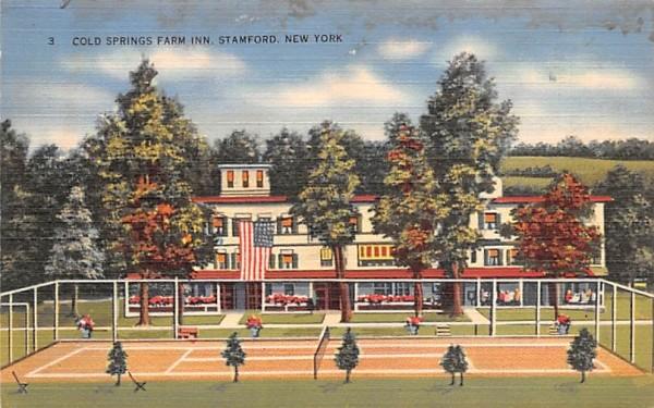 Cold Springs Farm Inn Stamford, New York Postcard