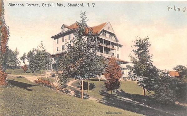 Simpson Terrace Stamford, New York Postcard