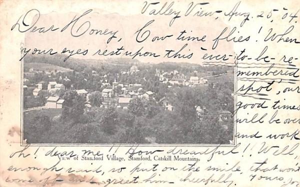 Stamford Village New York Postcard