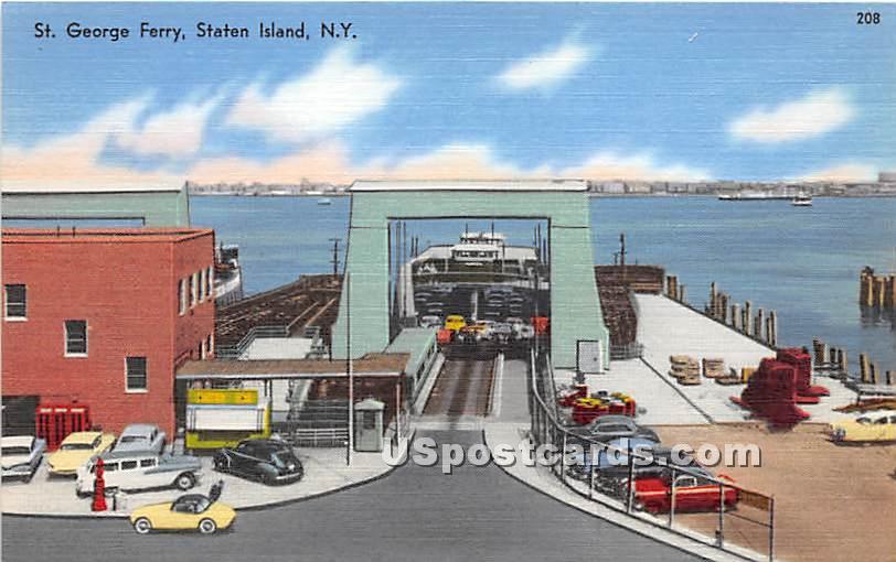 St George Ferry - Staten Island, New York NY Postcard