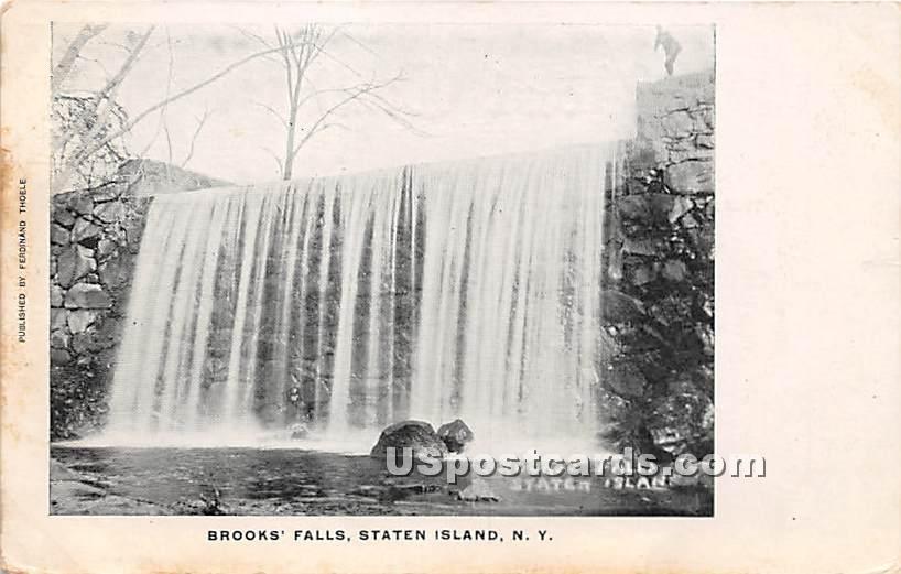 Brooks' Falls - Staten Island, New York NY Postcard