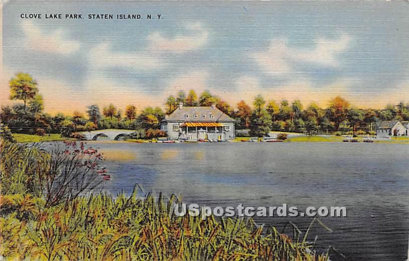 Clove Lake Park - Staten Island, New York NY Postcard