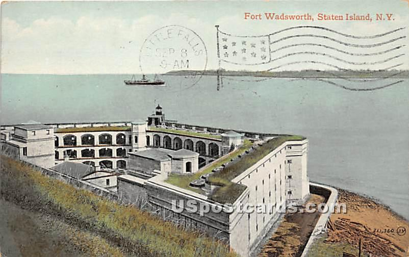 Fort Wadsworth - Staten Island, New York NY Postcard