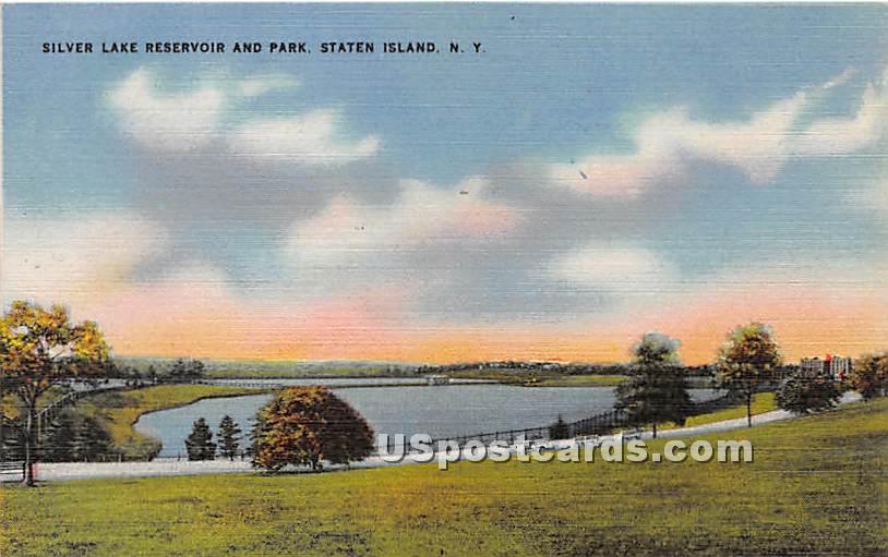 Silver Lake Reservoir & Park - Staten Island, New York NY Postcard