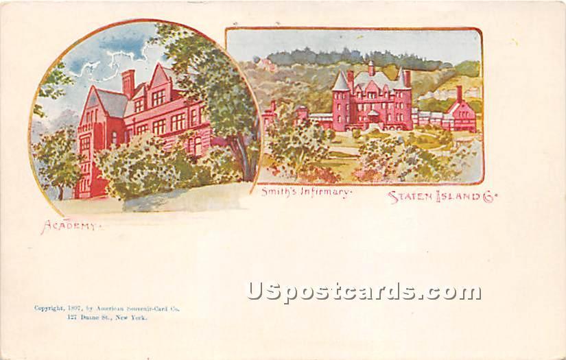Smith's Infirmary - Staten Island, New York NY Postcard
