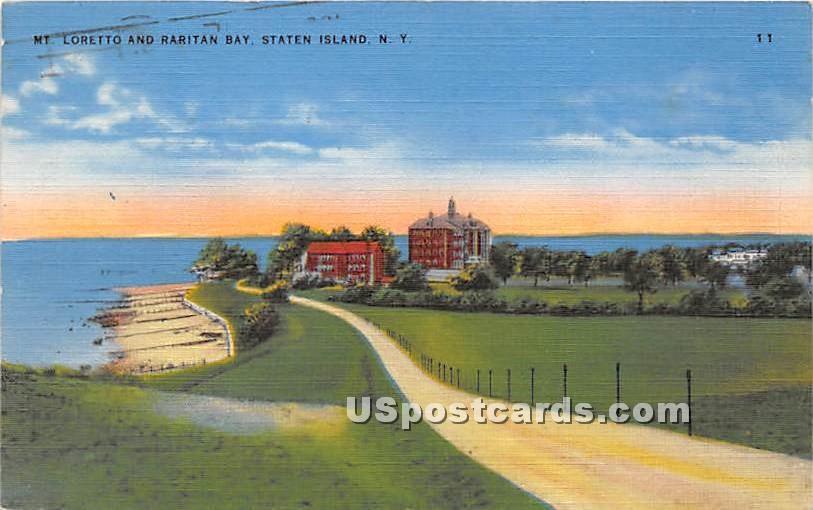 Mt Loretto & Raritan Bay - Staten Island, New York NY Postcard