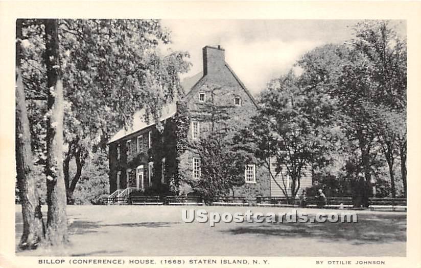 Billopp House - Staten Island, New York NY Postcard