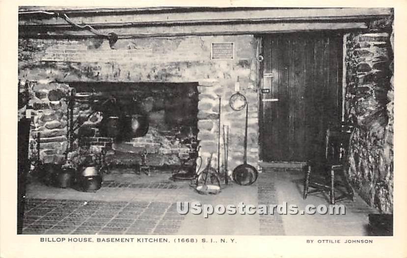 Billop House Basement Kitchen 1668 - Staten Island, New York NY Postcard
