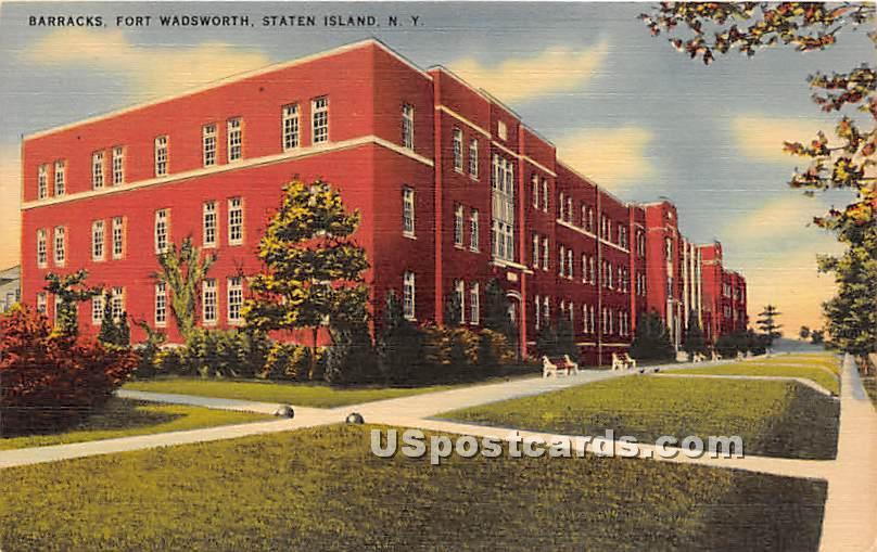 Barracks, Fort Wadsworth - Staten Island, New York NY Postcard